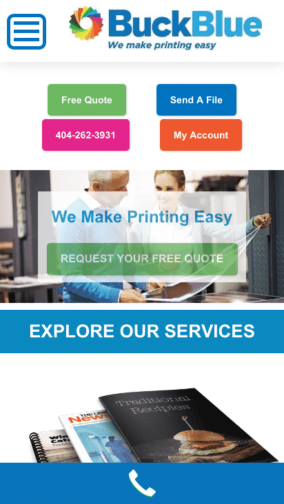 Google AMP Mobile Website Print Company