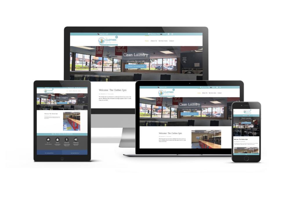 Laundromat Website Design