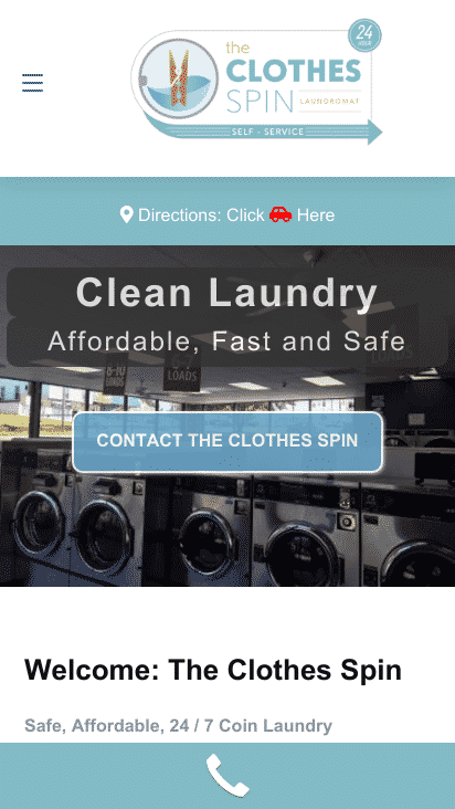 Laundromat WordPress Website