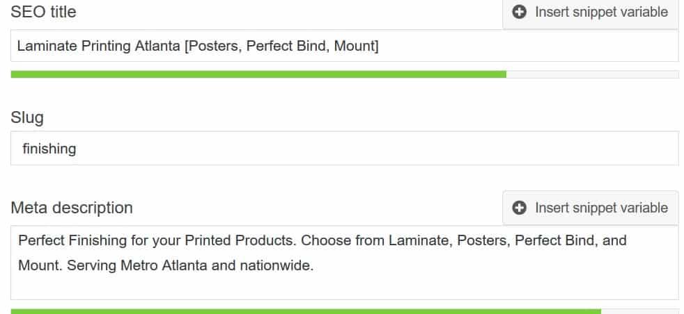 Organic SEO Keyword Rankings Print Company